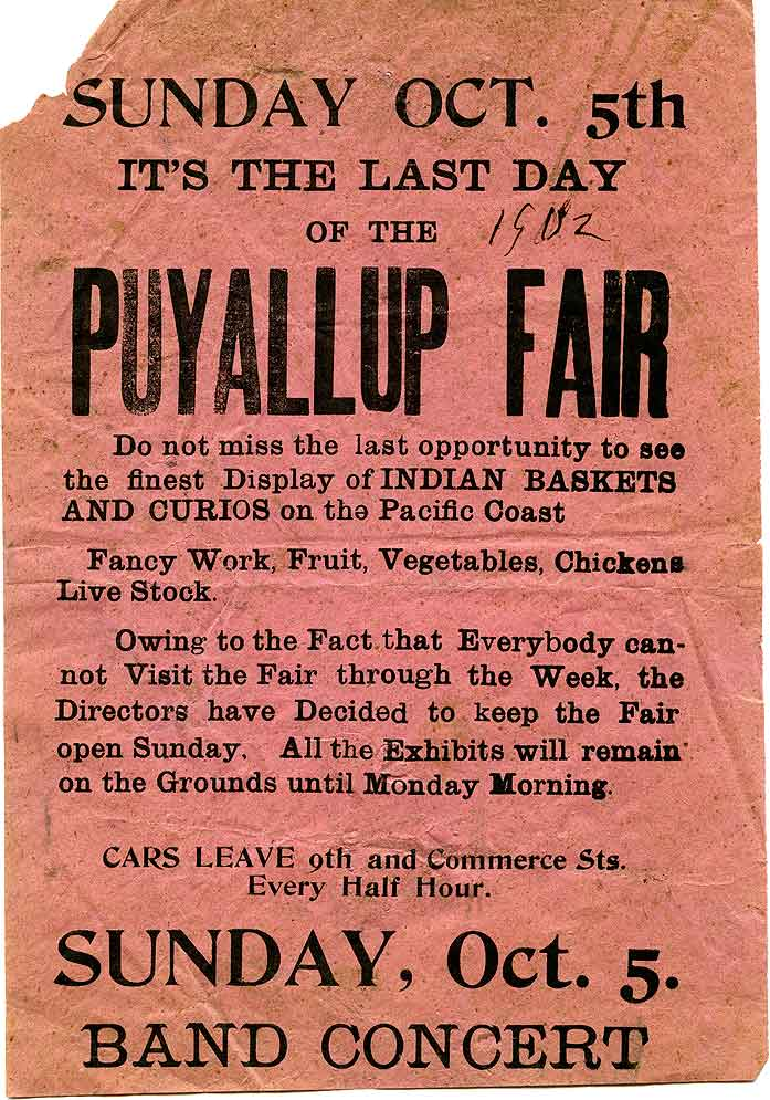 Sunday, Oct. 5th : it's the last day of the Puyallup Fair
