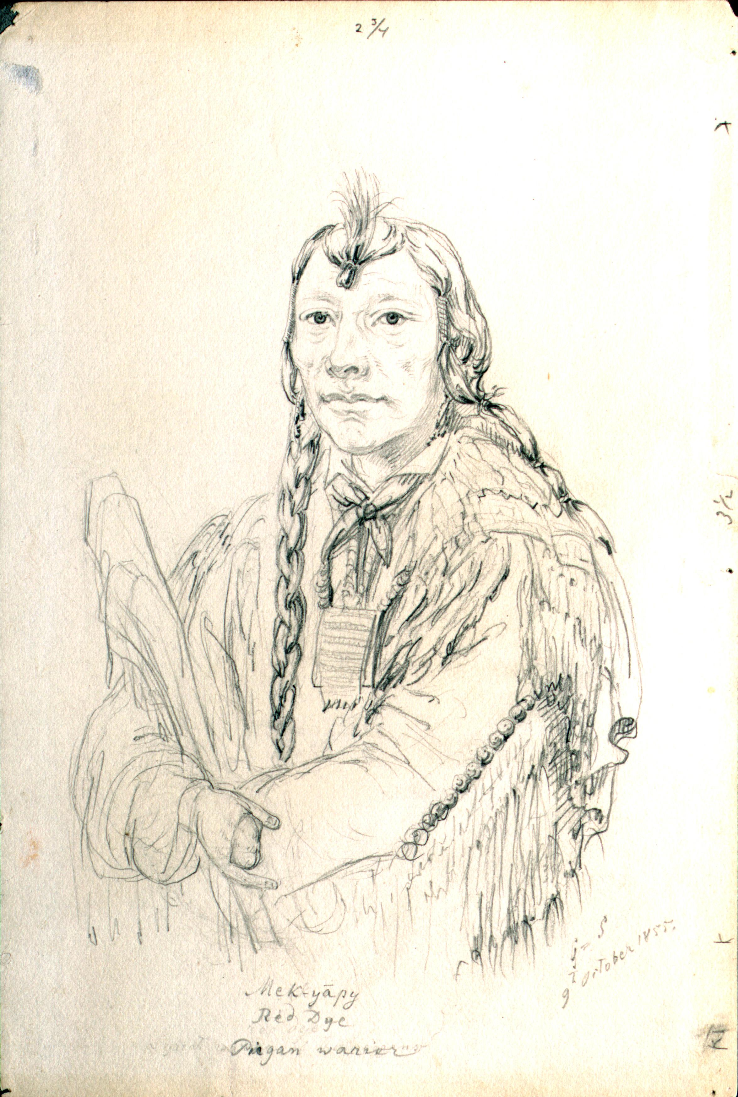 Mek-yapy  Red Dye  Piegan Warrior