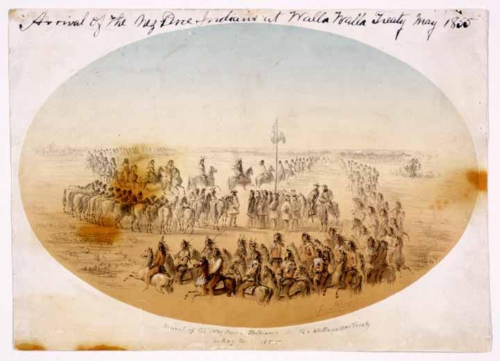 Arrival of the Nez Perce at Walla Walla Treaty May the 24 1855