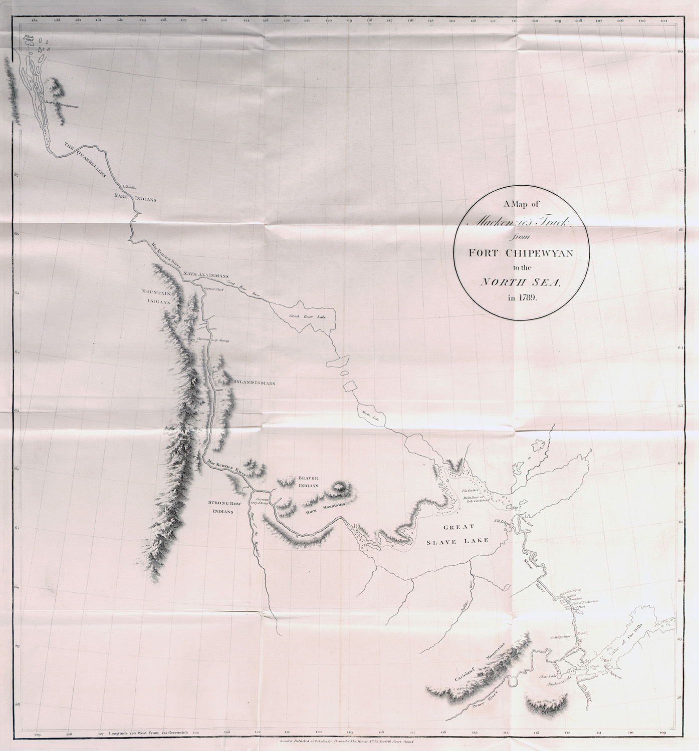 'A Map of Mackenzie's Track from Fort Chipewyan to the North Sea in 1789.'