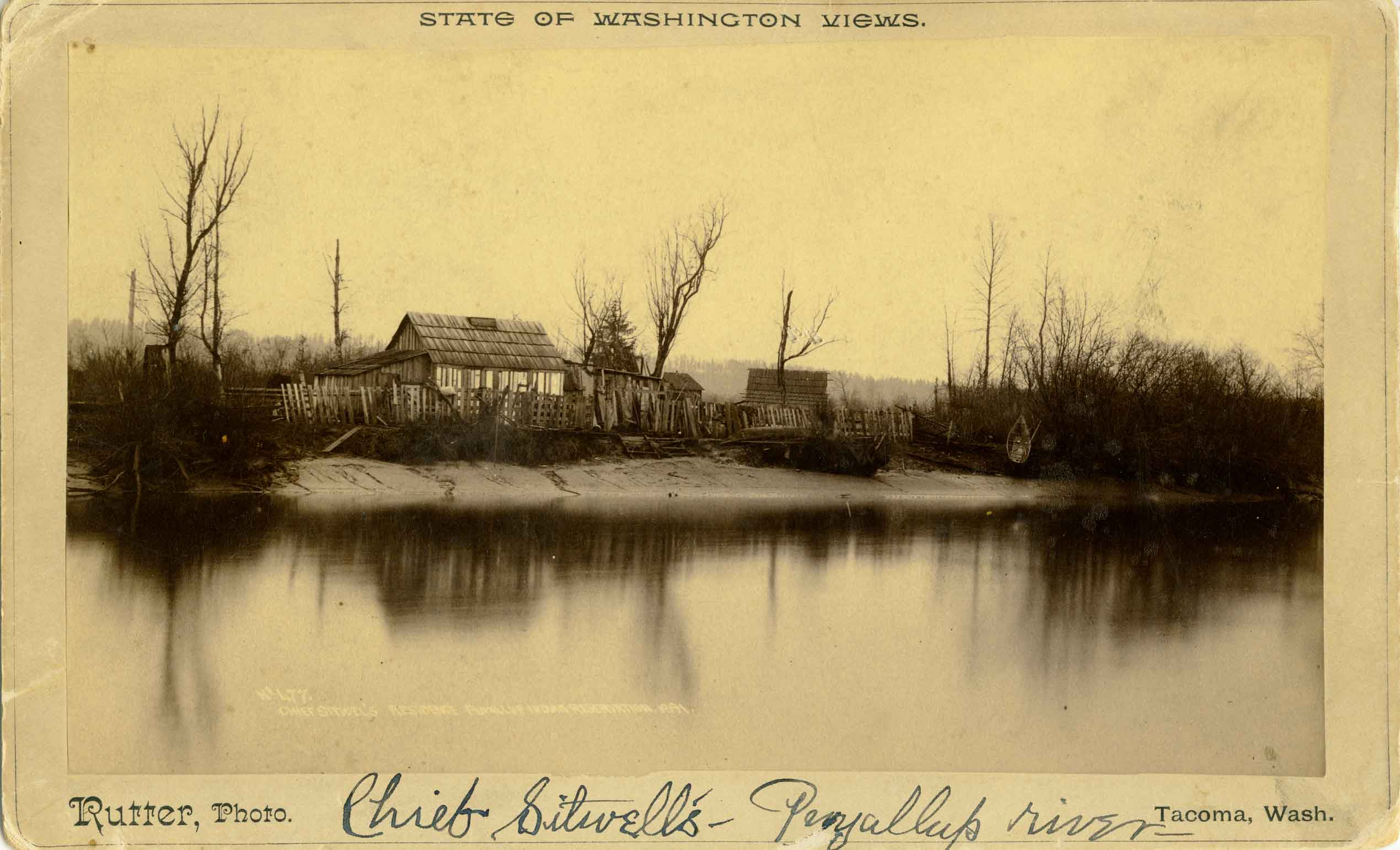 Chief Sitwell's Residence, Puyallup Indian Reservation