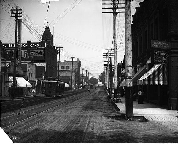 Olympia street scene