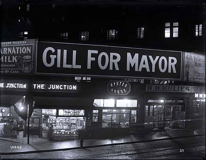 Gill for Mayor, Sign for Foster & Kleiser