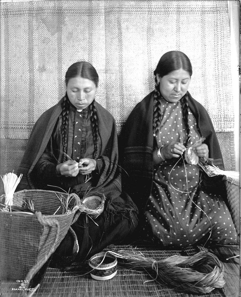 Makah Basket Weavers.