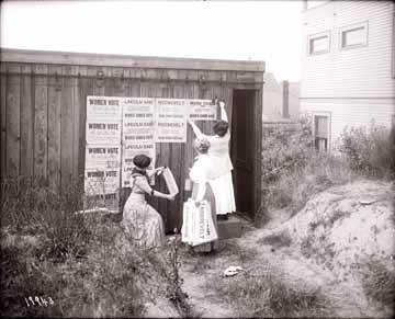 [Three women suffragists in Seattle, WA]
