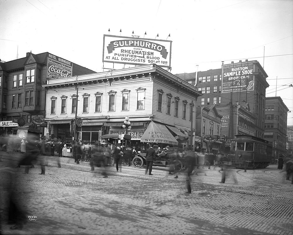 [Corner of Pike Street and First Avenue, Seattle]
