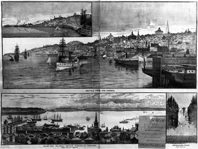 [composite photograph of four drawings by James T. Pickett]