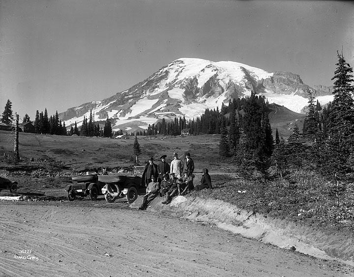 Group at Paradise Park, Mount Rainier National Park