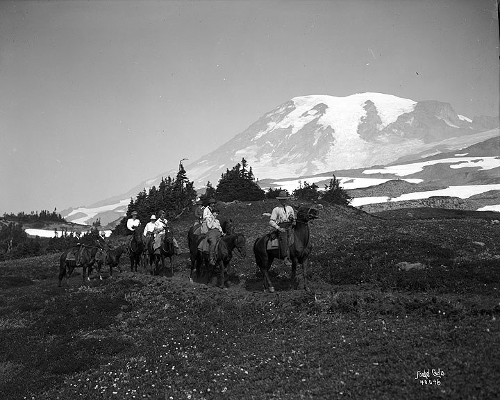 Horseback Party, Skyline Trail, Mount Rainier