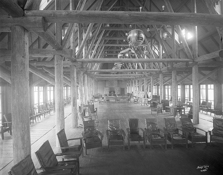 Interior of Paradise Inn, Mount Rainier National Park