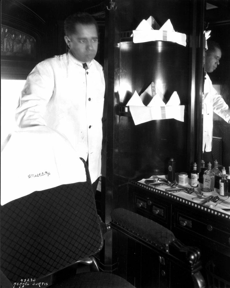 [Chicago, Milwaukee and Puget Sound Railway Barber Shop]