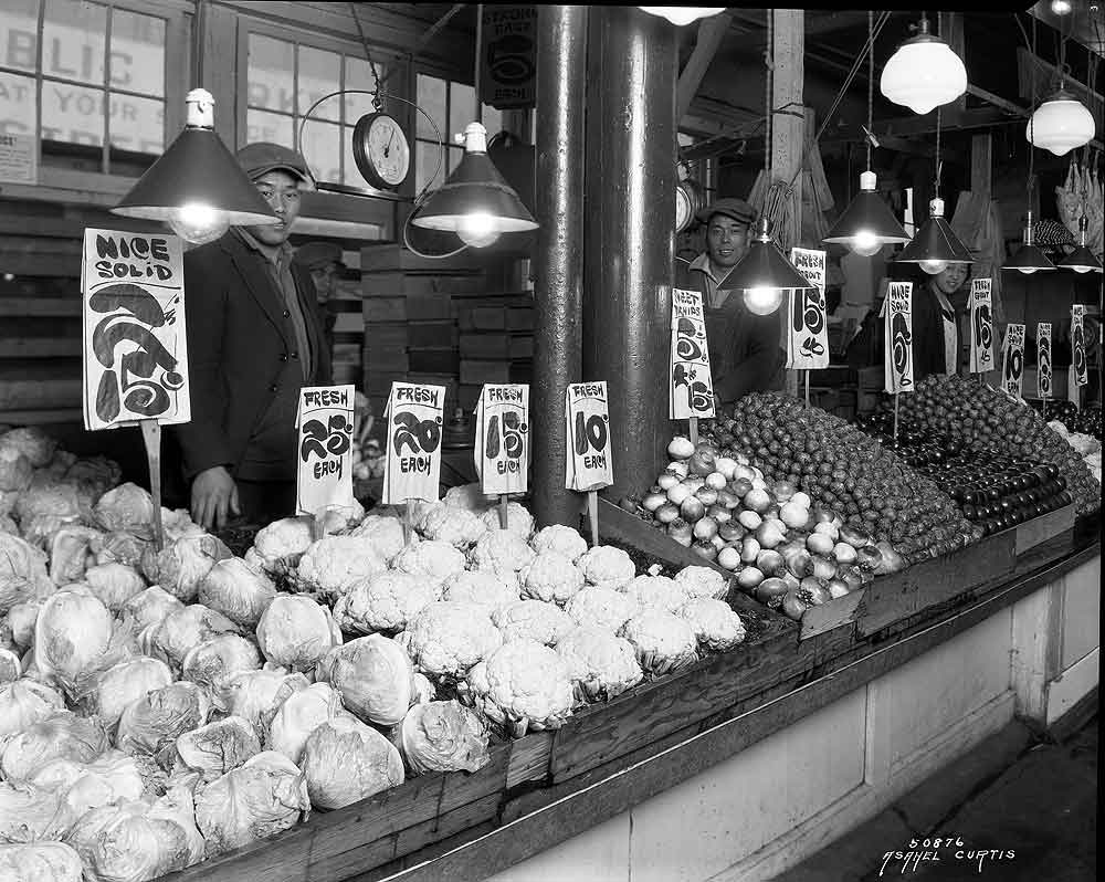 Vegetable stand at market
