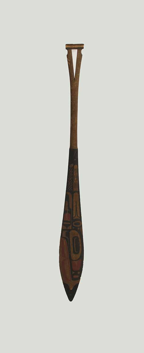 [miniature canoe paddle]