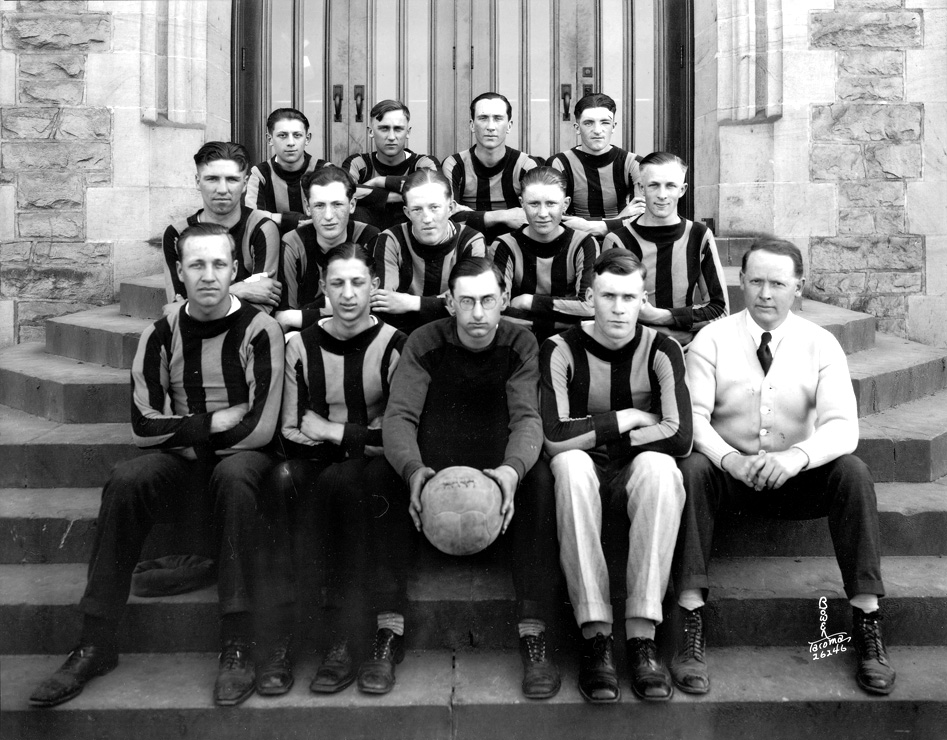 [Lincoln High School First  Soccer Team and Coach]