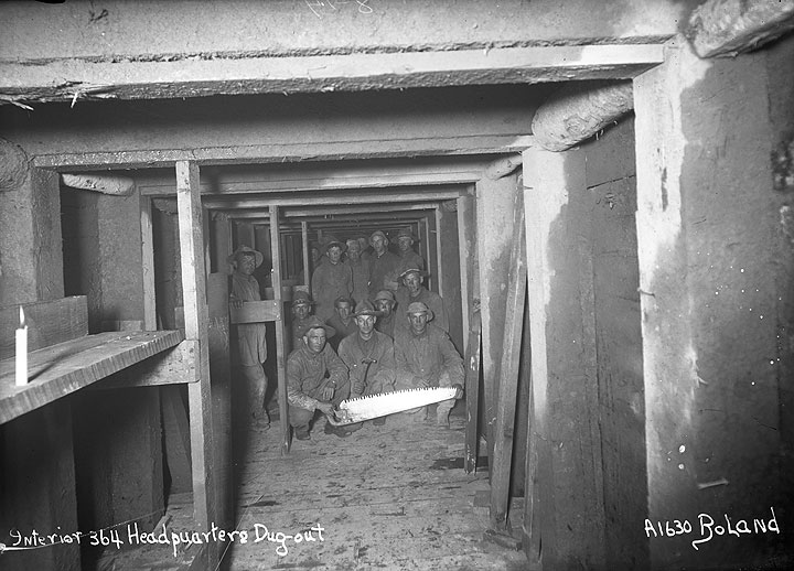 Interior 364 Headquarters Dug-Out [Camp Lewis, Pierce County]