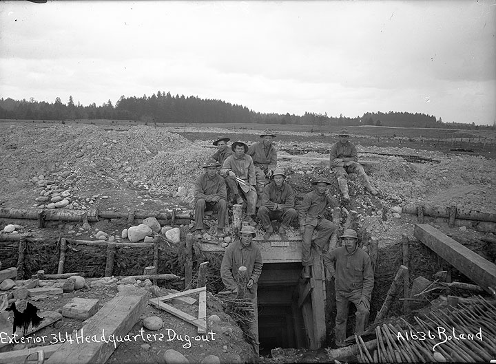 Exterior 364 Headquarters Dug-out [Camp Lewis, Pierce County]