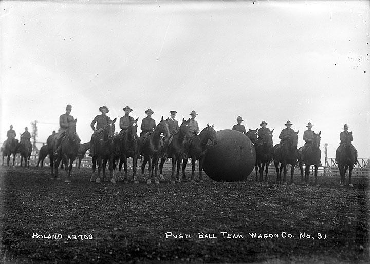 Push Ball Team, Wagon Co. No. 31 [Camp Lewis, Pierce County]