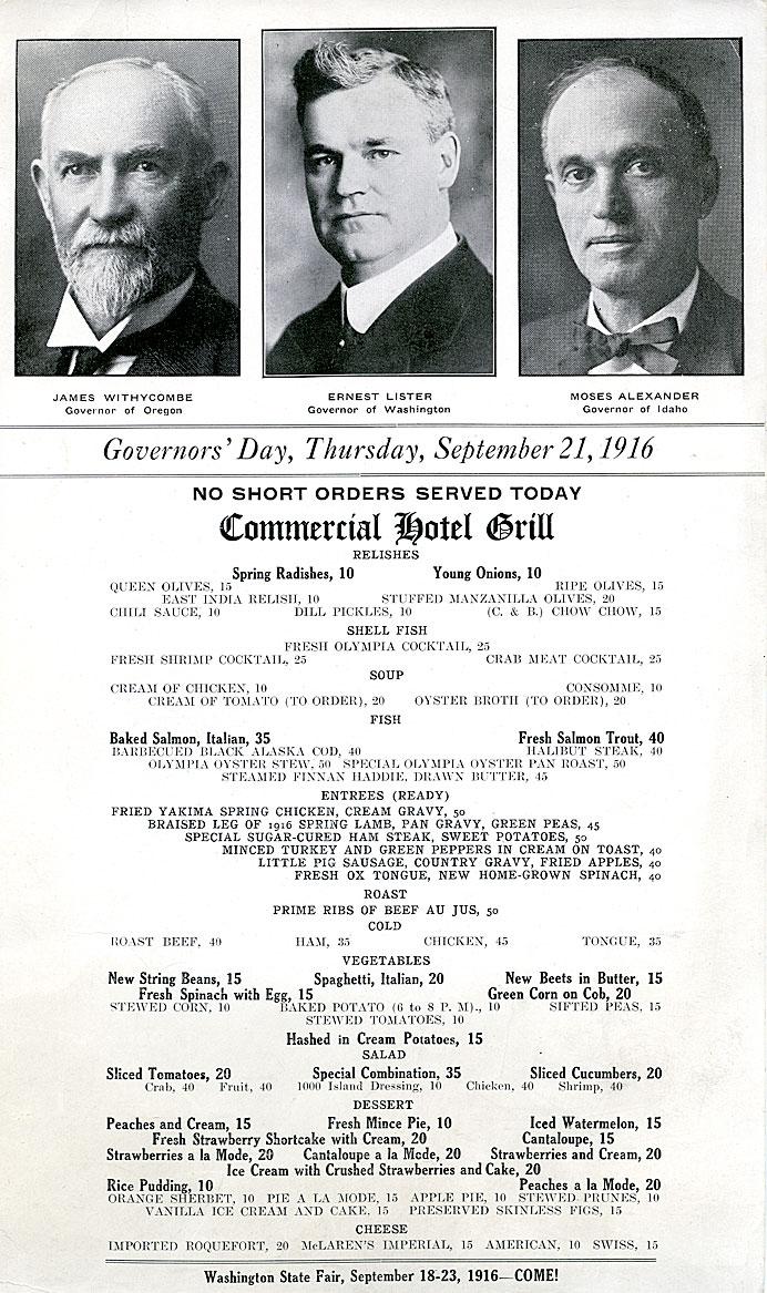 Governor's Day: Thursday, September 21, 1916