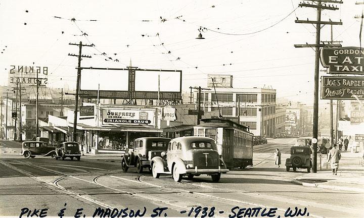 Pike & E. Madison St. - 1938 - Seattle, Wn.