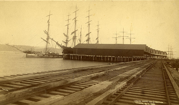 Loading wheat for Gt.Britain / Tacoma, W.T. 1888