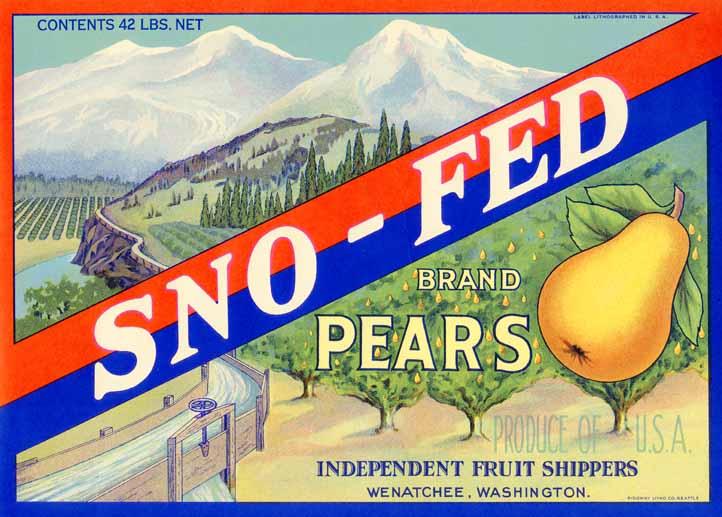 Sno-fed brand pears: produce of U.S.A.