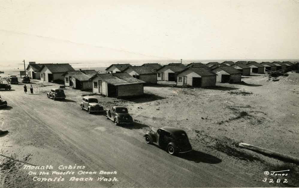 Menath Cabins on the Pacific Ocean Beach, Copalis Beach Wash.
