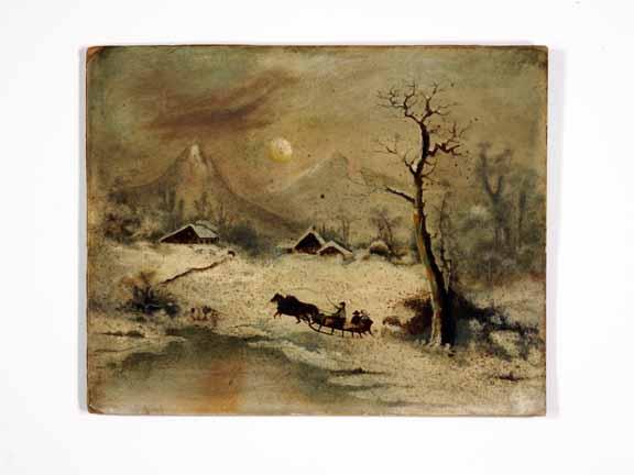 [print of snowy scene]