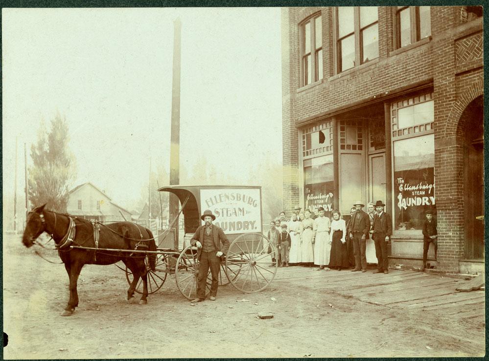 Ellenburg Steam Laundry delivery wagon