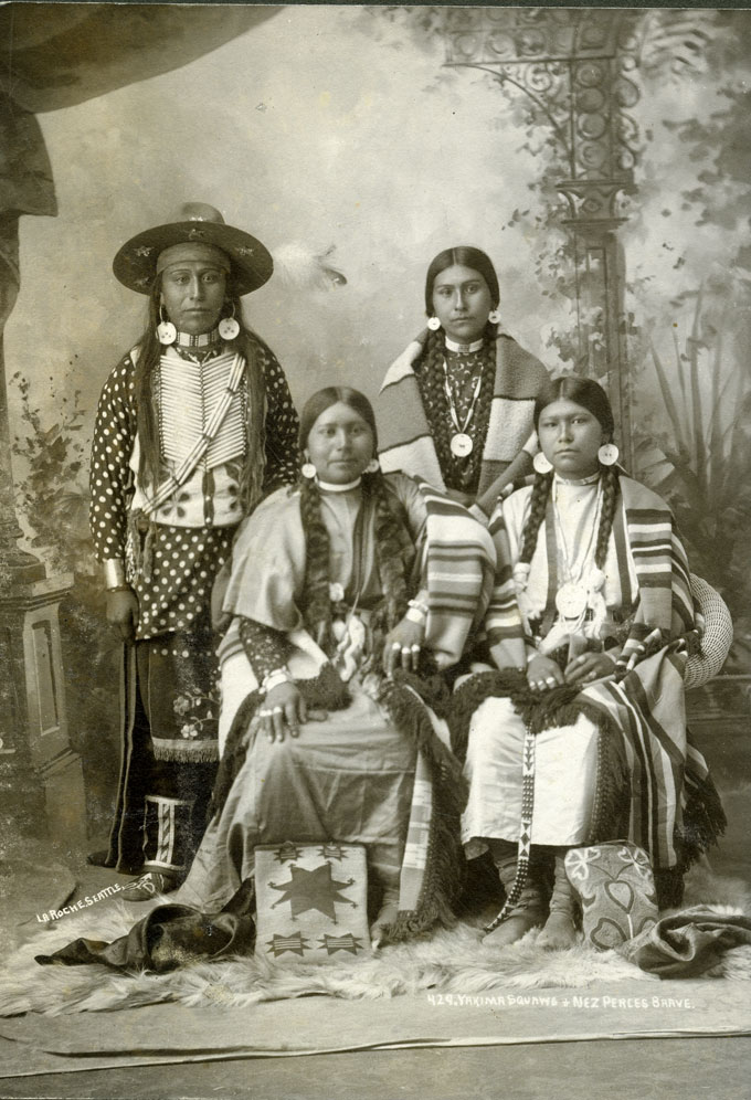 Yakima Squaws and Nez Perces Brave