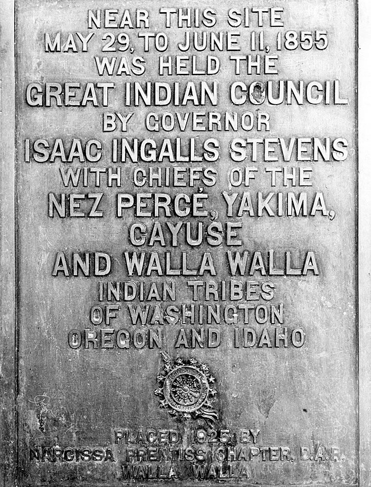 [1855 Indian Treaty Council historical marker]