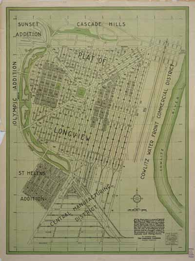 [Map of Longview, Washington]