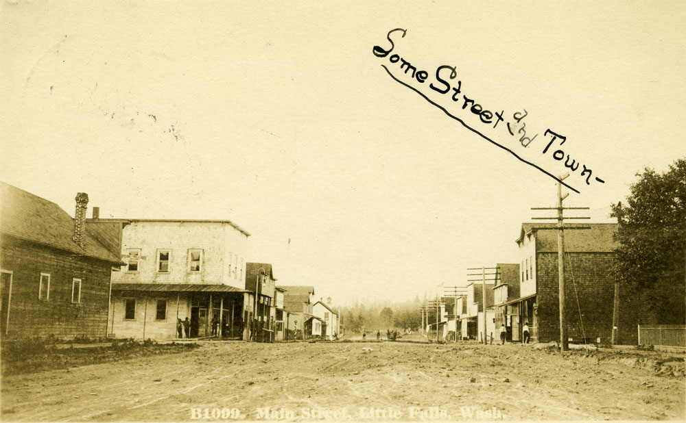 Printed on front:  Main Street, Little Falls, Wash.