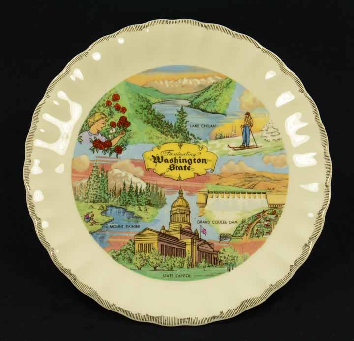 [souvenir plate for Washington State]