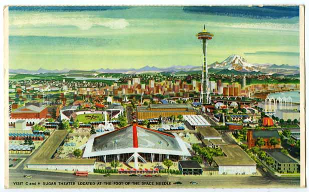 [Birdseye view of Century 21 Exposition]