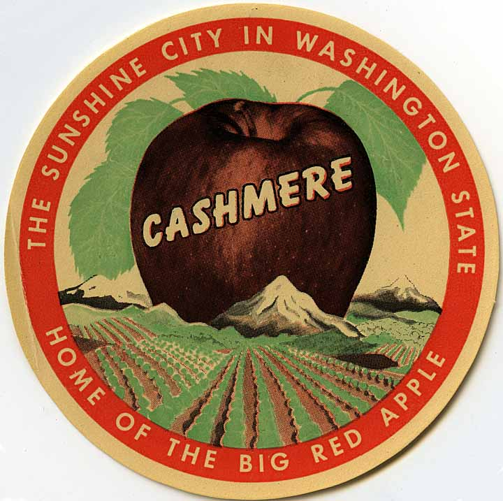 Cashmere, the sunshine city in Washington State: home of the big red apple