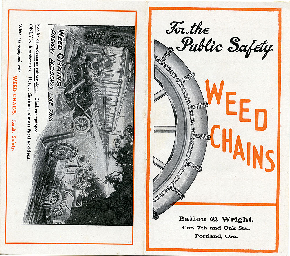 For the public safety: Weed [automovile] chains