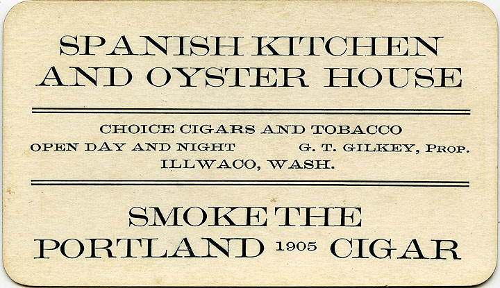 Spanish Kitchen and Oyster House: choice cigars and tobacco