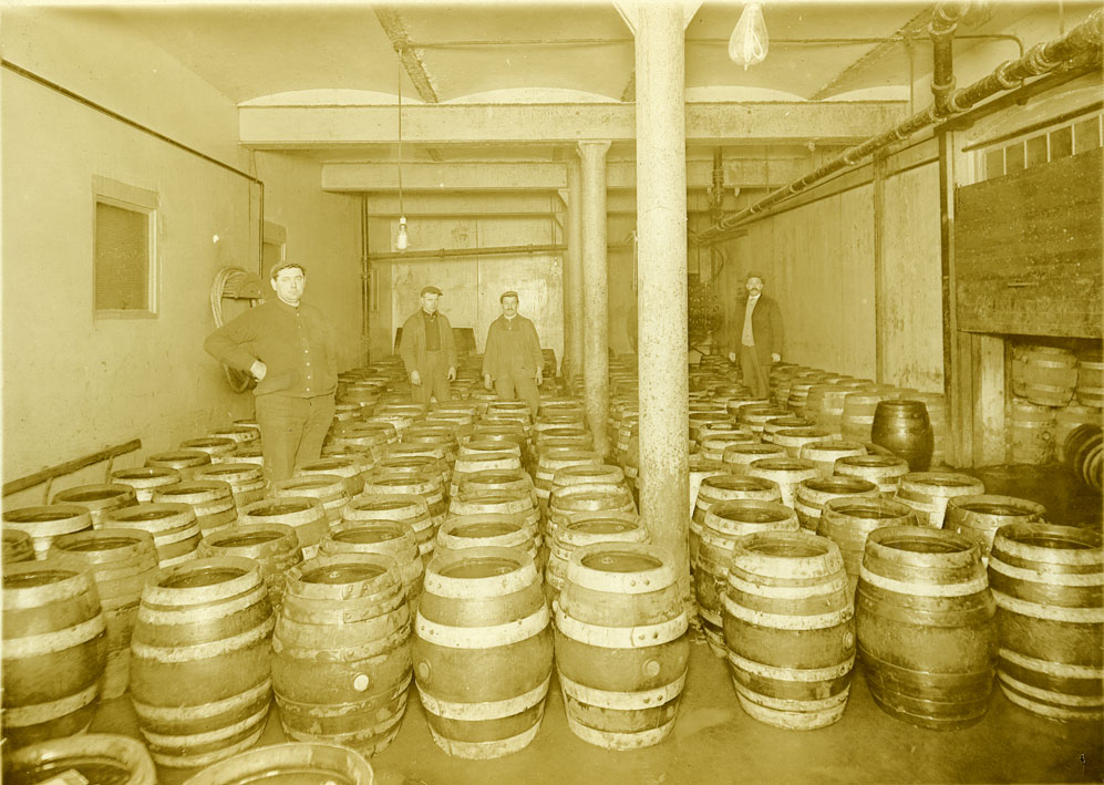 [View of Keg Room of the Blitz-Reinhard Company]