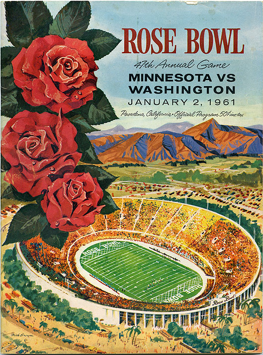 Tournament of Roses 47th annual Rose Bowl game: Minnesota vs. Washington, January 2, 1961