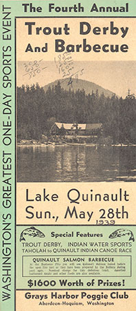 The fourth annual trout derby and barbeque: Lake Quinault, Sun., May 28th