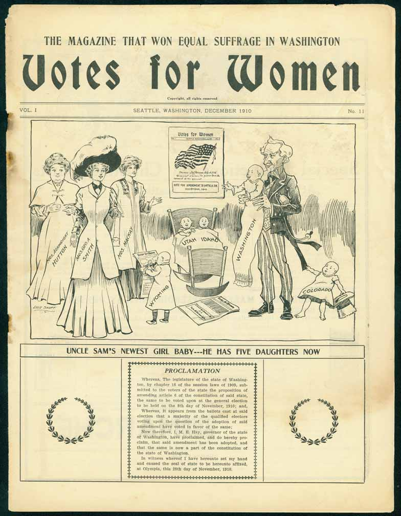 Votes for women: official organ of Washington Equal Suffrage Association