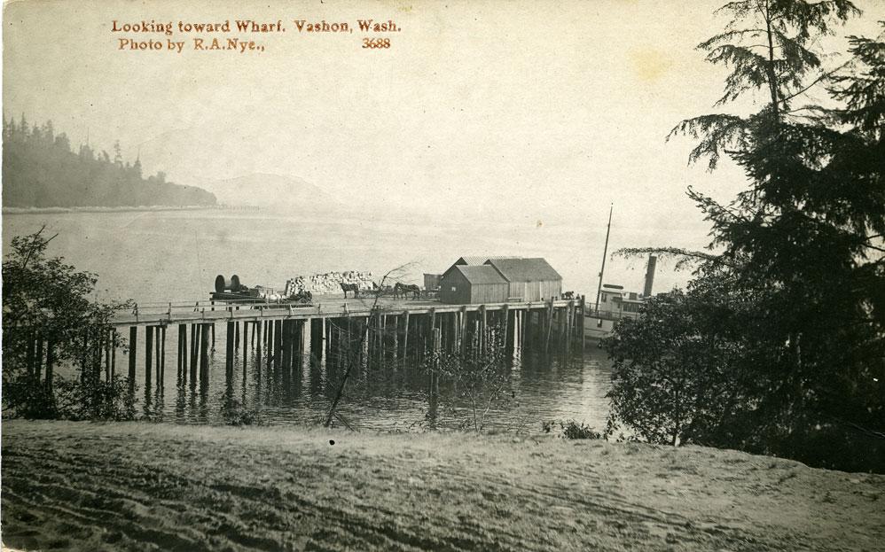 Looking toward Wharf, Vashon, Wash.