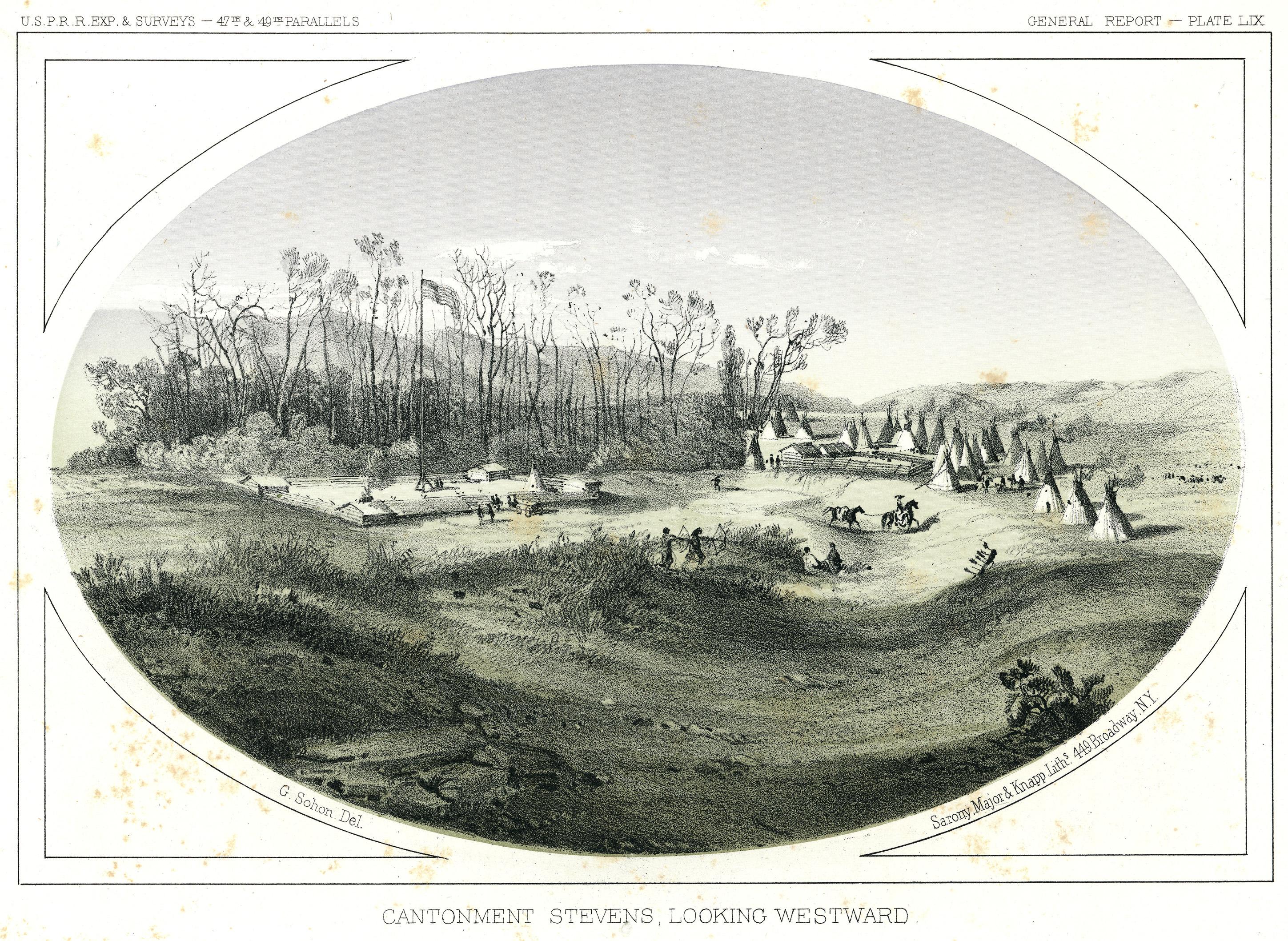 Cantonment Stevens, Looking Westward