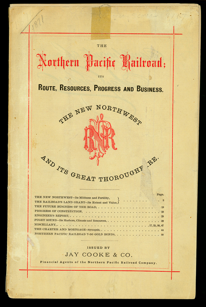 The Northern Pacific Railroad : its route, resources, progress, and business