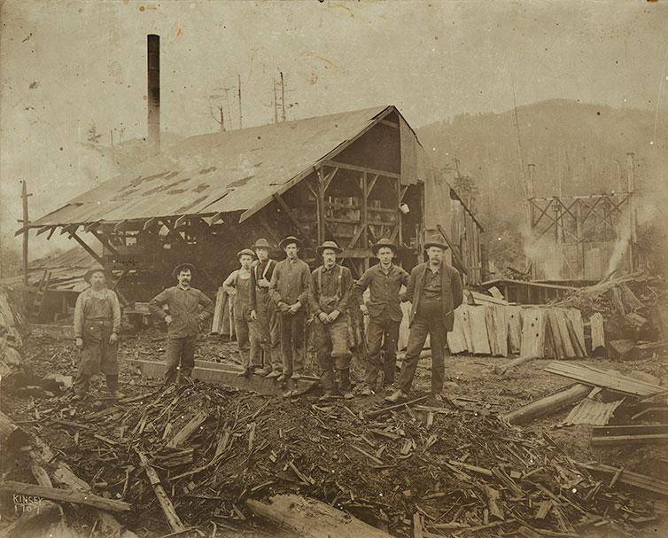 [Shingle mill crew at Merrill Mill]