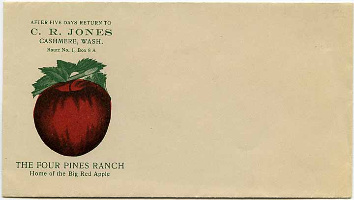 After five days return to C.R. Jones, Cashmere, Wash.: The Four Pines Ranch, home of the big red apple