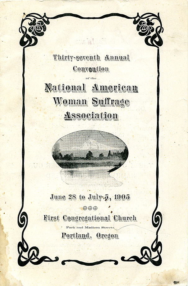 Thirty-seventh annual convention : June 28 to July 5, 1905 of the American Woman Suffrage Association
