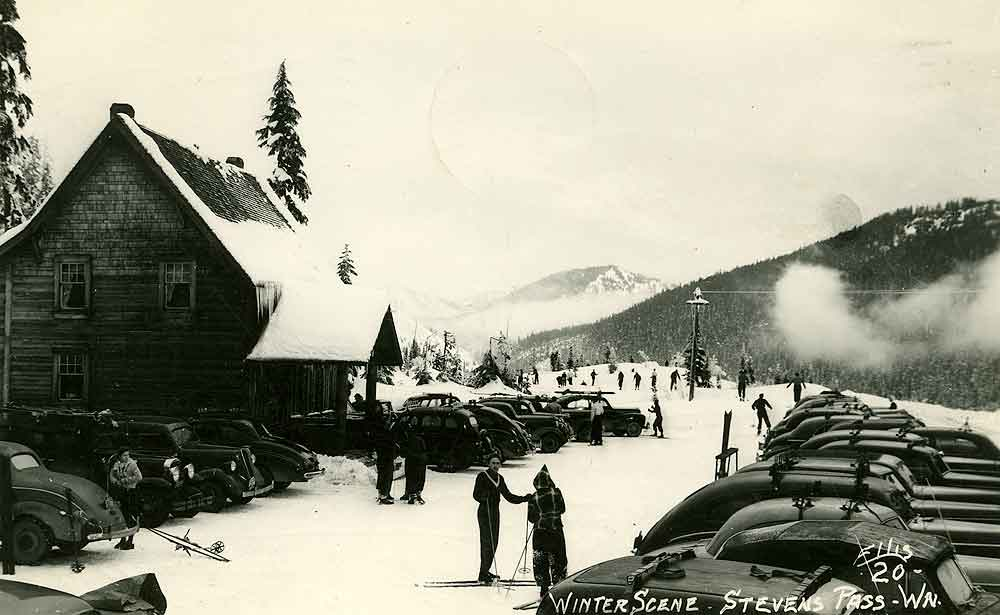 Winter Scene, Stevens Pass