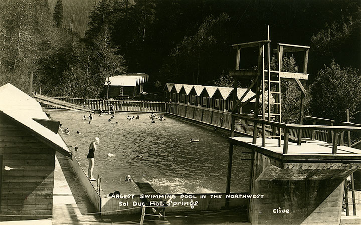 Largest Swimming Pool in the Northwest, Sol Duc Hot Springs.