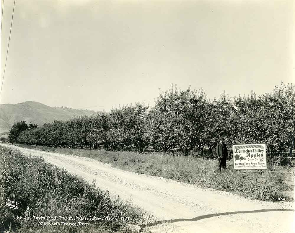 The Old Town Fruit Farm, Wenatchee, Wash., 1921. Ellsworth France, prop.